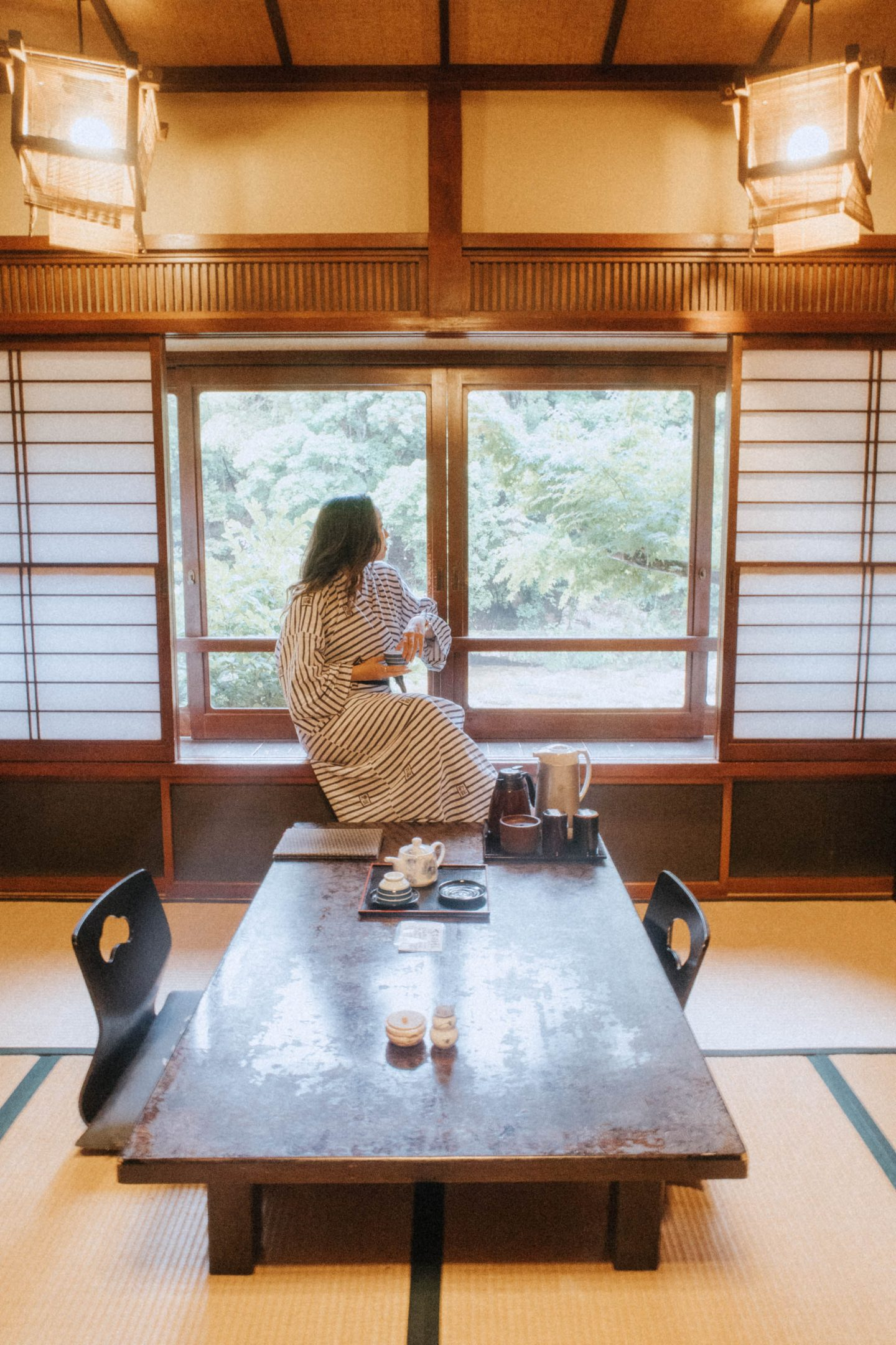 Relaxing in a traditional Aichi home in Central Japan
