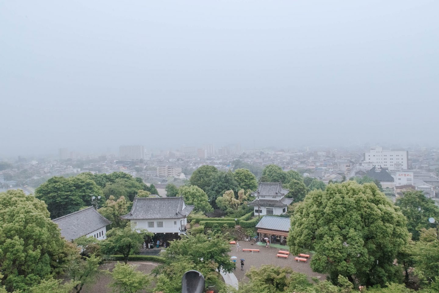 View from the top of Japan's National Treasure- The Inuyama Castle in Nishio Central Japan