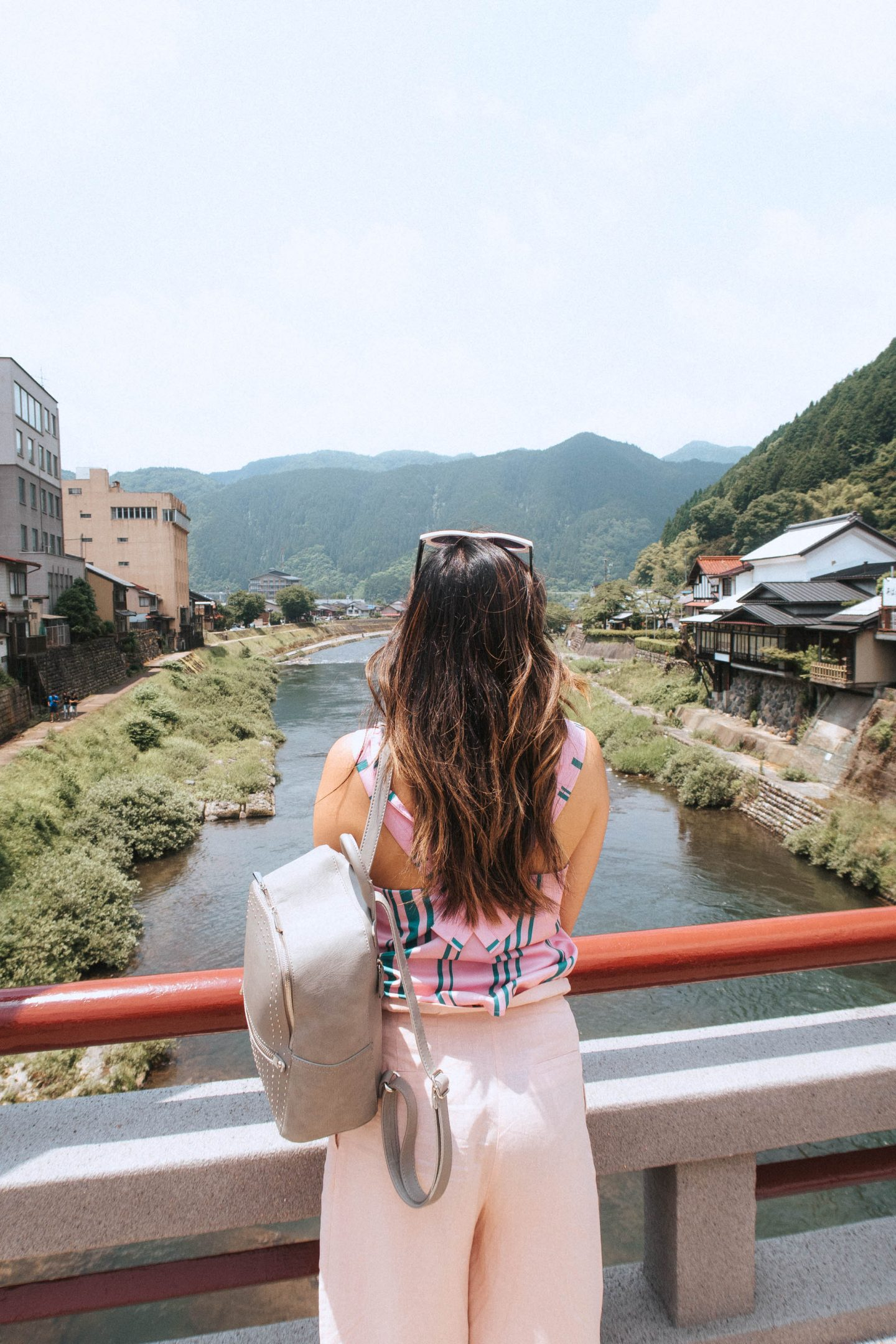 The beautiful view of the Gifu Prefecture in central japan