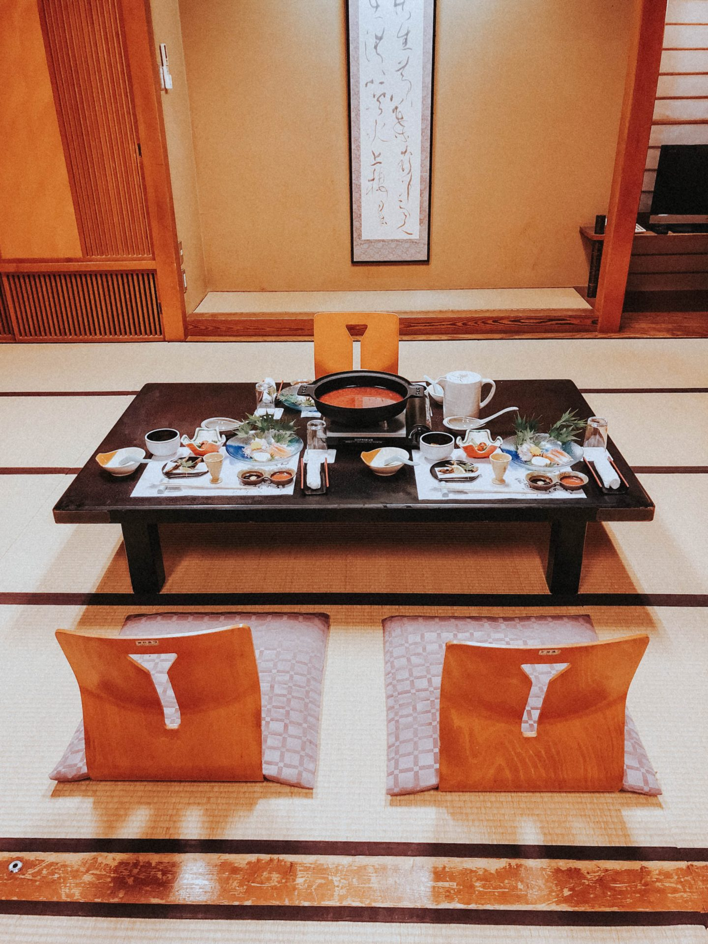 Traditional Japanese meal in Central Japan