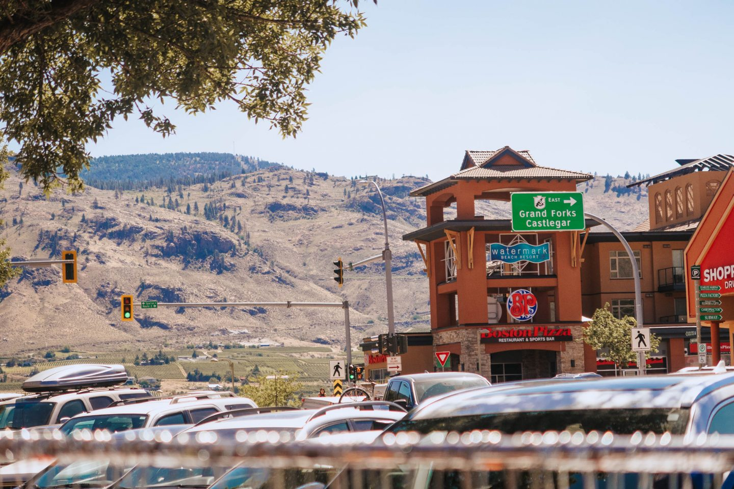 downtown of the small town of osoyoos BC okanagan