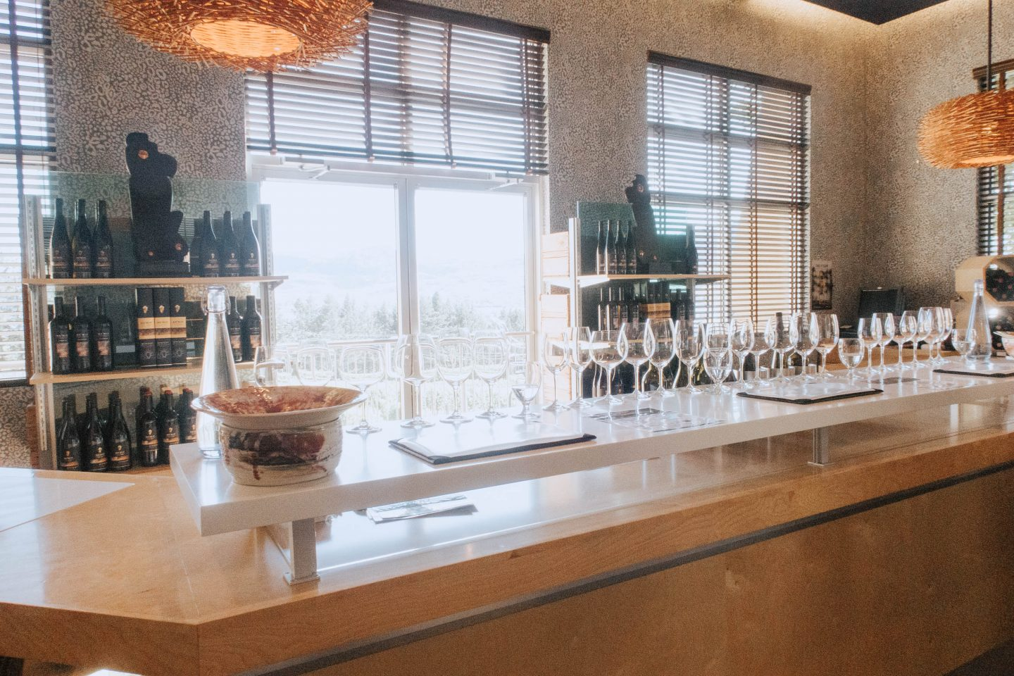 The indoor wine tasting room at NK'MIP Cellars and Sunset Lounge
