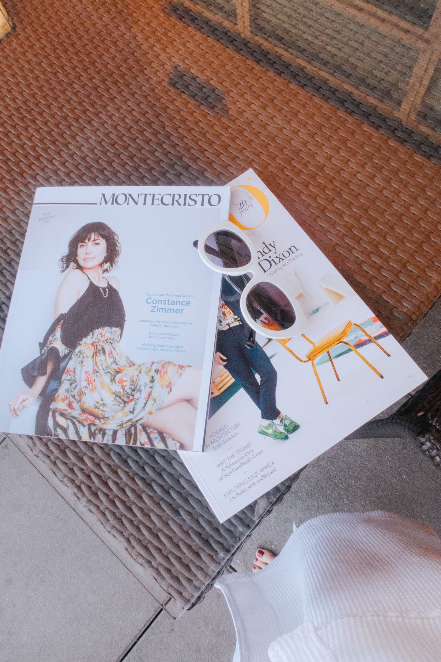 My magazine reads for lounging on the beach at The Watermark Resort in Osoyoos BC Okanagan