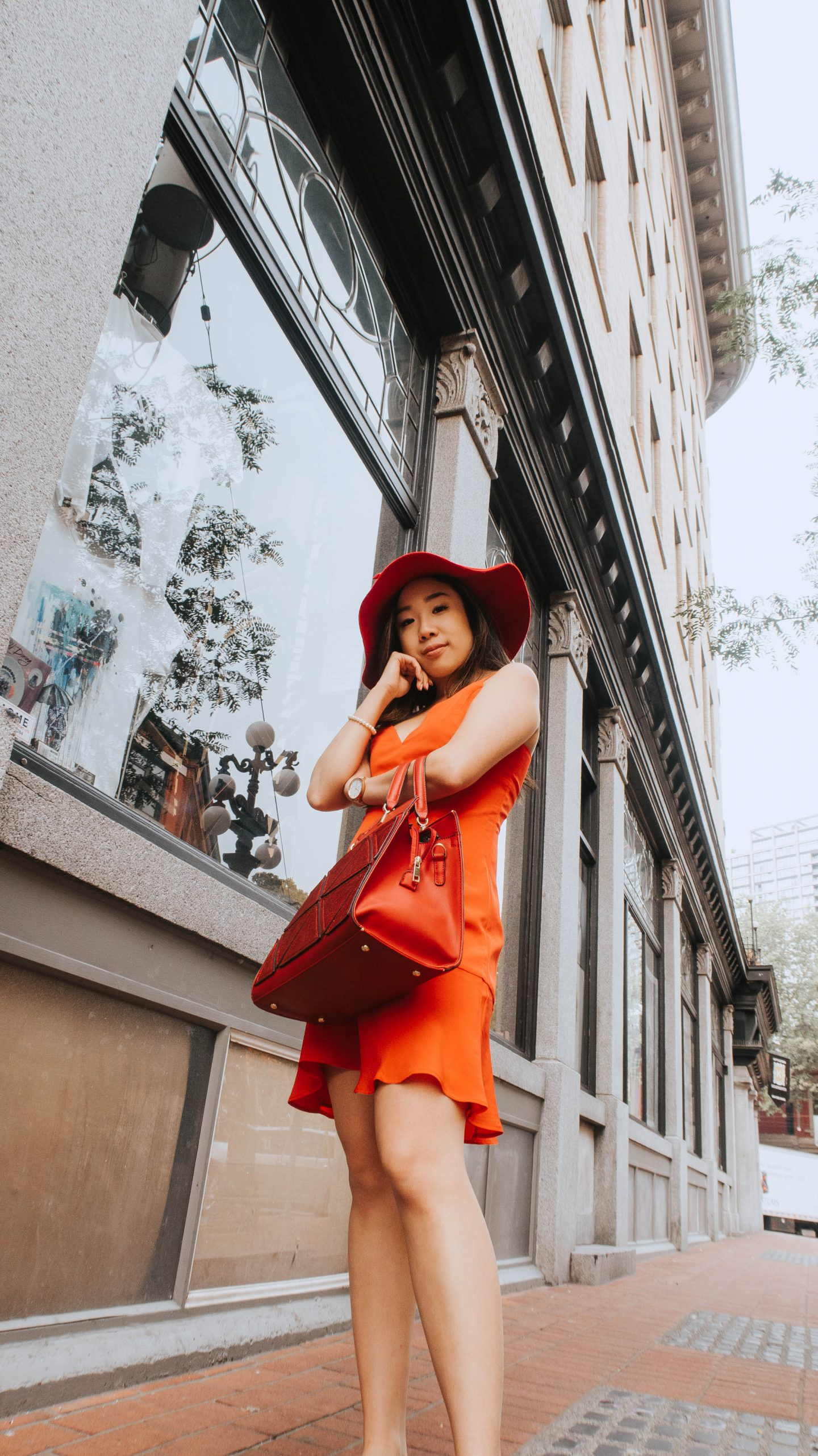 Finding a piece of New York City in Vancouver BC with my red dress