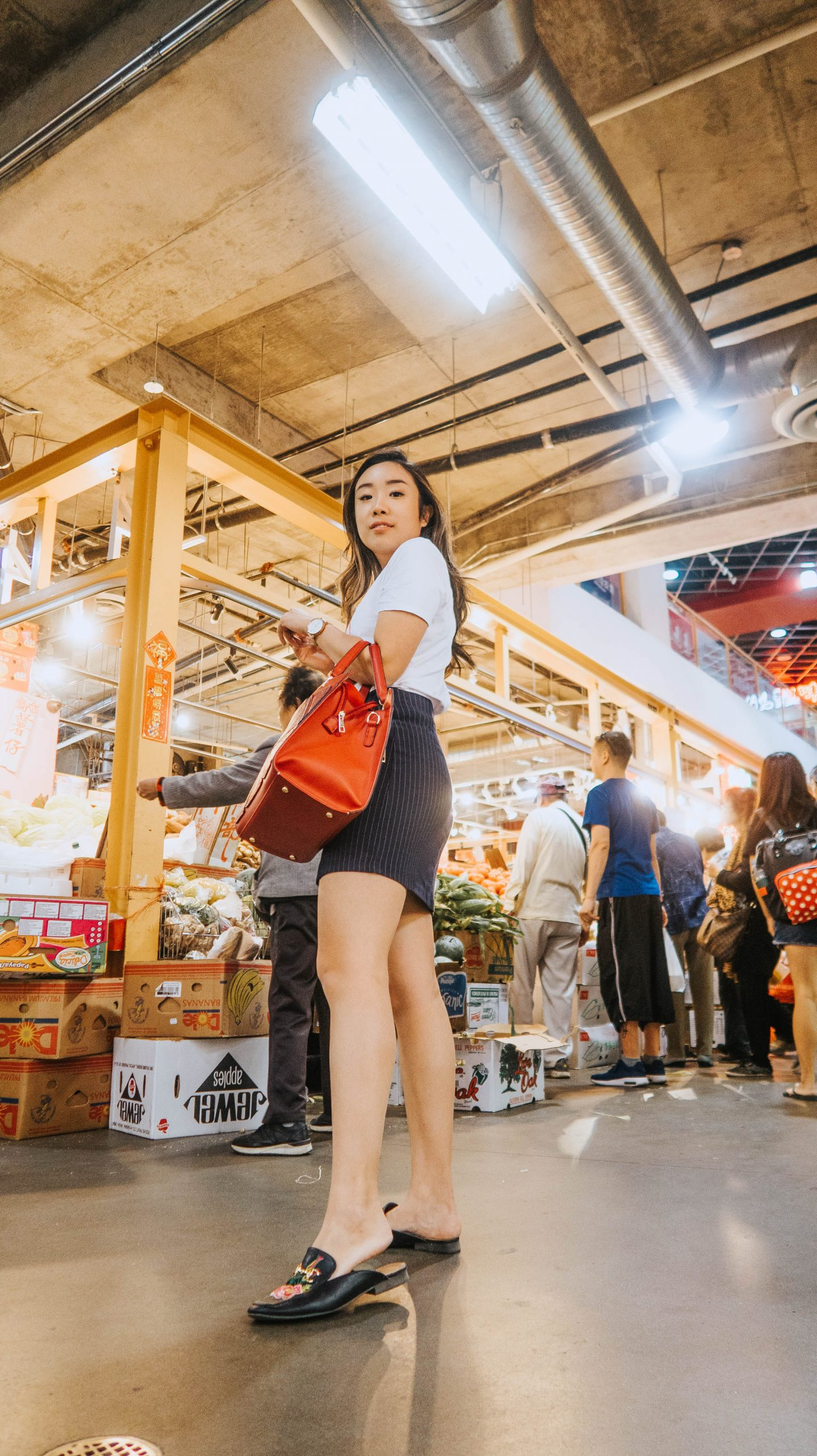 local travel and shopping at the market in Granville Island