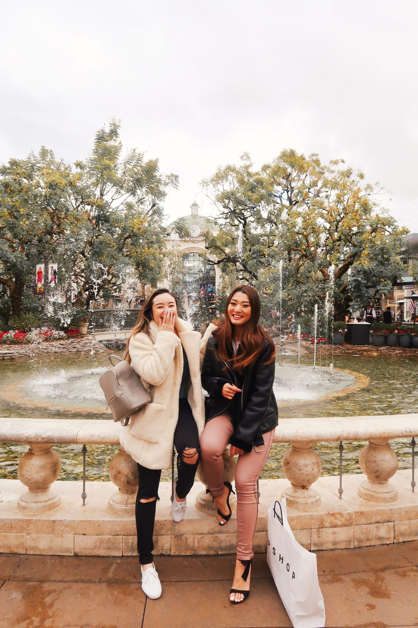 Shopping and exploring in The Grove in Los Angeles