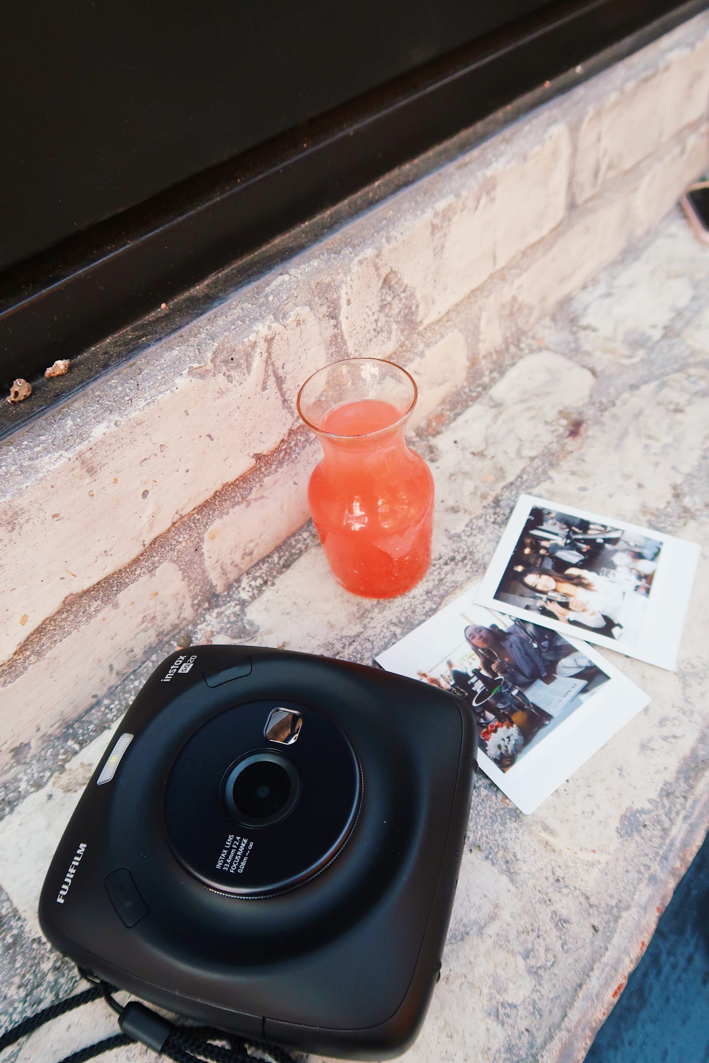 Delicious drinks while taking Polaroids in Los Angeles